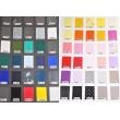 Barevné PVC vykrojené kalhotky s patenty po stranách
