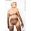 Latexové dámské kalhotky se stimulátorem klitorisu