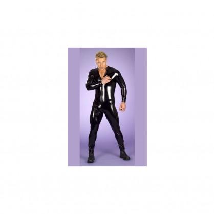 Lycrový catsuit pánský s předním zipem a dlouhým rukávem