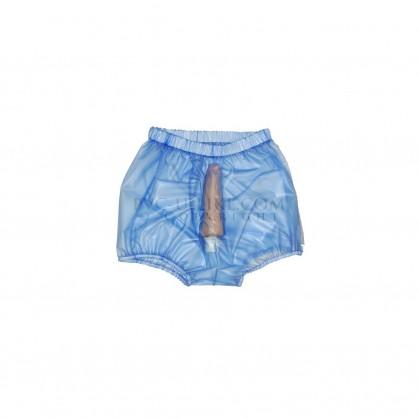 PVC pánské kalhotky s pouzdrem na penis a pružným pasem