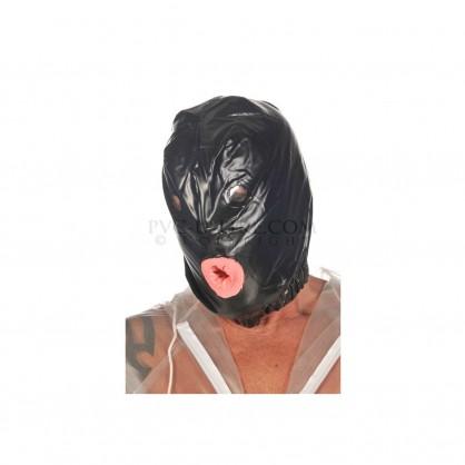 PVC maska s kondomem v ústech a elastickým lemem