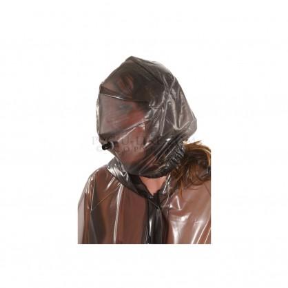 PVC maska bez zipu s dýchací trubičkou pro připojení vaku