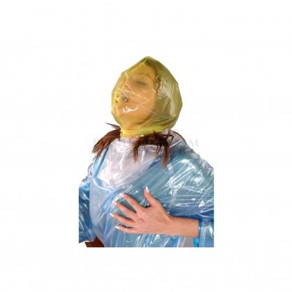 PVC maska s dýchacím otvorem a zadním zipem