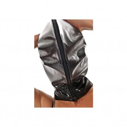 PVC maska s dvojitým pláštěm a zapínáním na zip