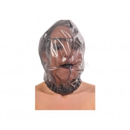 PVC maska bez dýchacích otvorů s pružným lemem kolem krku