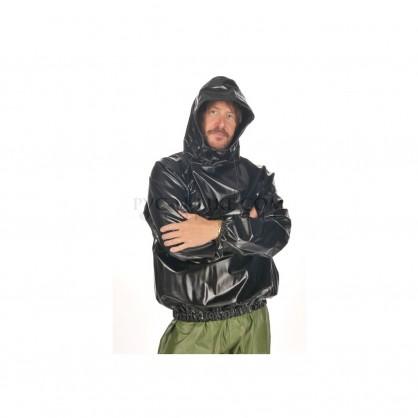 PVC pánská mikina s kapucí a dlouhým rukávem