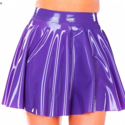 Latexová nabíraná sukně Tana s krátkým zadním zipem