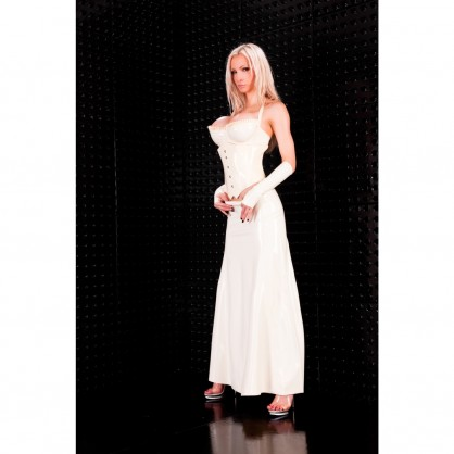 Latexová dlouhá sukně Tiara bez zipu