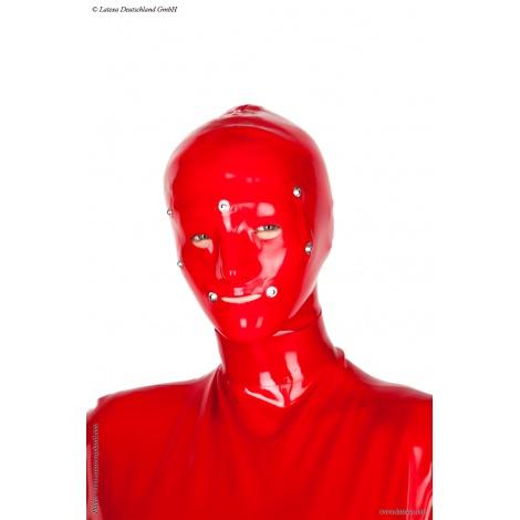 Latexová dámská maska Dana se všemi otvory a zadním zipem