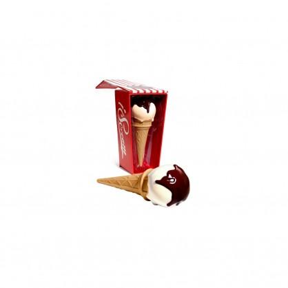 Vodotěsný vibrátor ve tvaru zmrzliny s hracím pouzdrem