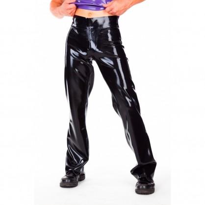 Latexové pánské džíny bez jakéhokoliv zapínání