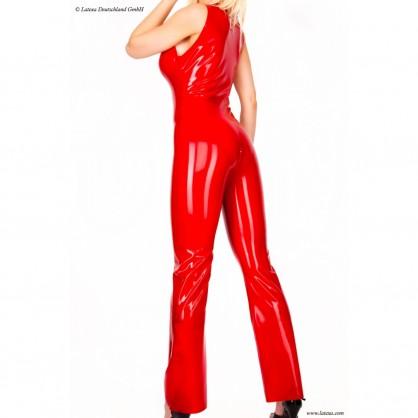 Latexový dámský catsuit s rozšířenými nohavicemi