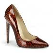 Lakové dámské klasické lodičky s leopardím červeným vzorem