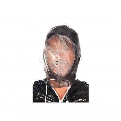 PVC maska s transparentním obličejem a zadním zipem
