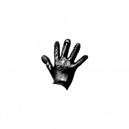 Latexová rukavice s různými výstupky na prstech