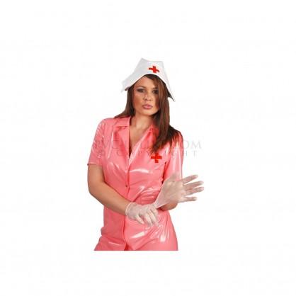 PVC uniforma zdravotní sestry se zapínáním na patentky