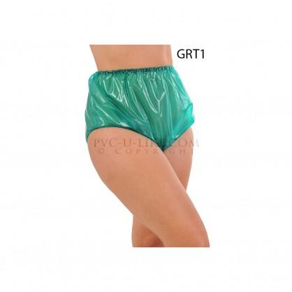 PVC plenkové kalhotky se zpevněným okrajem v barvě zelené