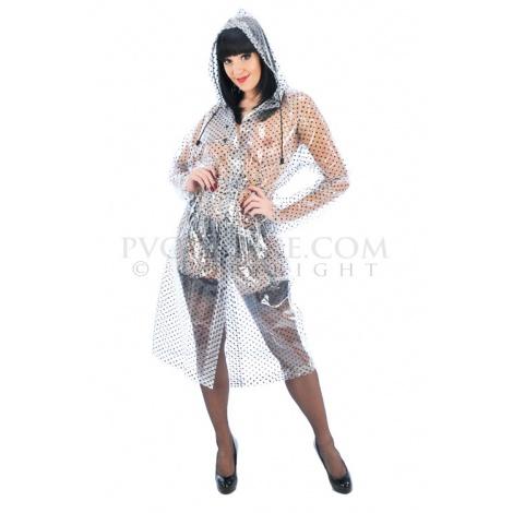 PVC pláštěnka do deště se stahovací kapucí