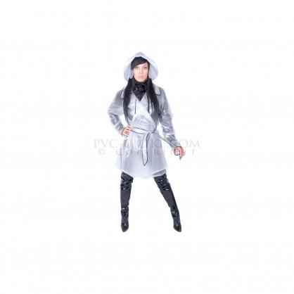 PVC dámský kabát s límcem