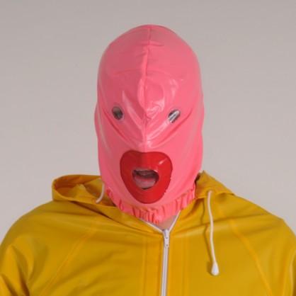 PVC maska s otevřenou pusou v barvě černé