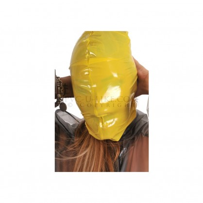 PVC maska bez dýchacích otvorů s pružným lemem