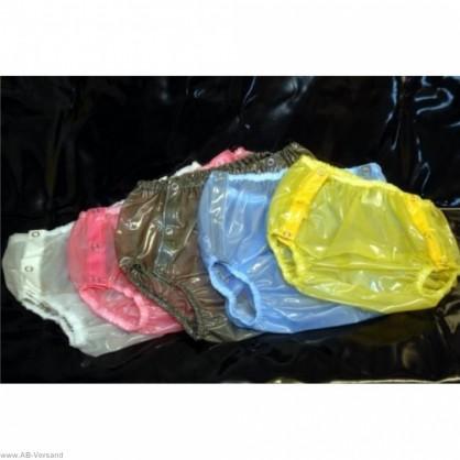 PVC plenkové kalhotky s patenty po obou stranách v barvě červené