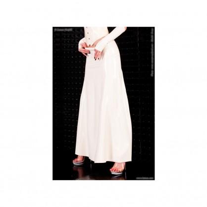 Černá latexová dlouhá sukně Tiara bez zipu