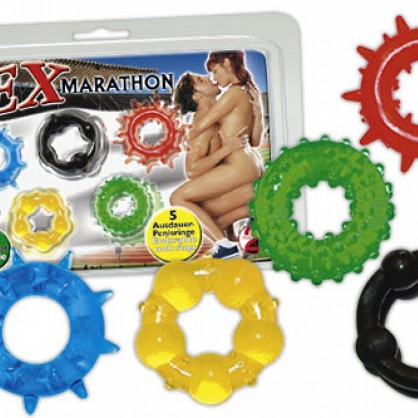 Barevné silikonové kroužky na penis