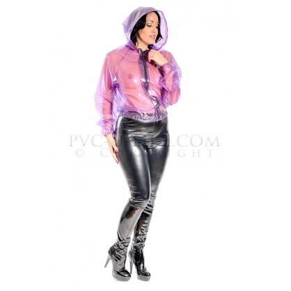 PVC dámská bunda s pružnými lemy