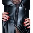 Dámský sexy dlouhý kabát s vysokým rozparkem (Wetlook)