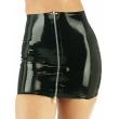 Latexová dámská sukně s předním kovovým zipem
