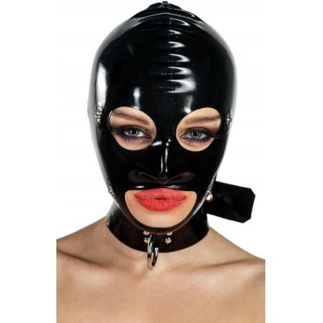 Latexová maska s odepínacím krytem přes oči