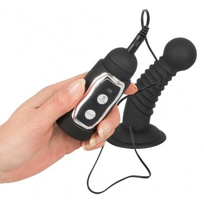 Anální vibrační kolík v černé barvě