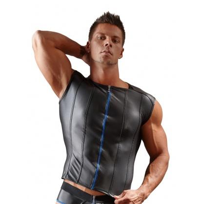 Pánské triko s předním kontrastním zipem