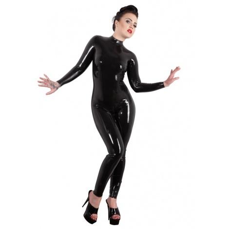 Latexový dámský catsuit s výstřihem na zádech -Bella