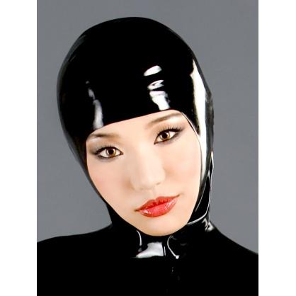 Černá latexová tvarovaná maska s otevřeným obličejem  POLYMORPHE