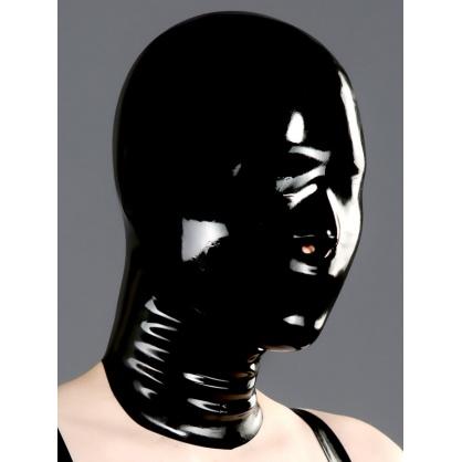 Černá latexová maska uzavřená s nosními dírkami POLYMORPHE