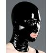 Černá latexová maska s perforovanýma očima