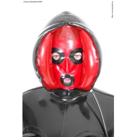Latexová nafukovací maska s předním i zadním zipem