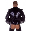 Latexová bunda pánská s třásněmi a předním zipem