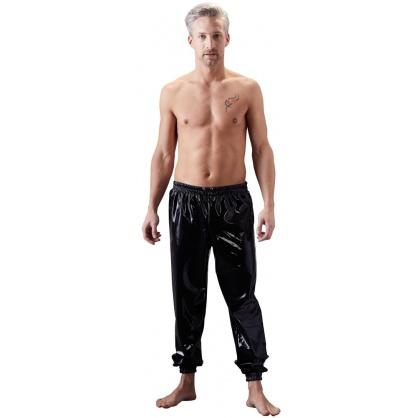 Latexové pánské kalhoty s pružným pasem a nohavicema